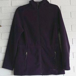 L.L.Bean fleece full zip hooded purple  jacket 💜